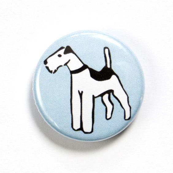 Fox Terrier Dog Badge £1.50