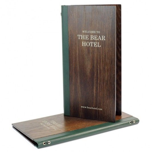 Real Wood Menu Covers. The Smart Marketing Group - Luxury loft bar menu covers…