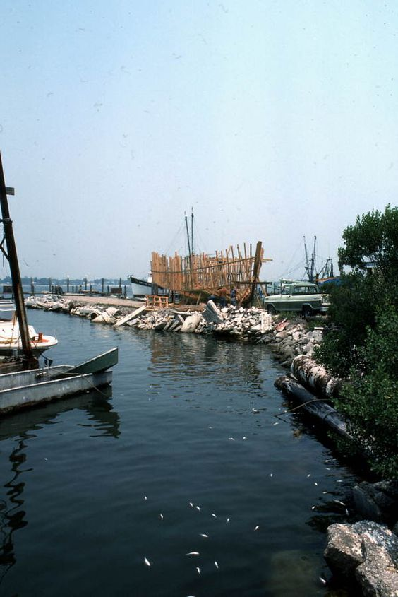 """View of the """"Miss Joann"""" under construction - Mayport, Florida"""