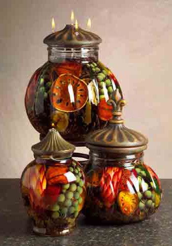 Harvest colors lifetime candles featured at gift for Oil filled candlesticks