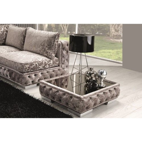 Ottoman Coffee Table With Glass Top