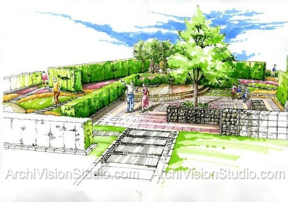 Pinterest the world s catalog of ideas for Landscape architect drawing