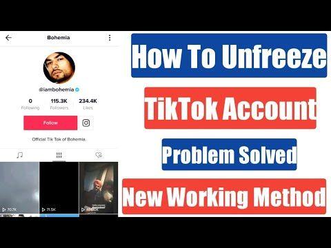 How To Unfreeze Tiktok Id Account Tiktok Account Freeze Problem Solution Problem And Solution Accounting Problem Solved
