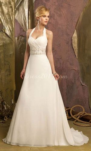 A drop dead gorgeous wedding dress WITH STRAPS.