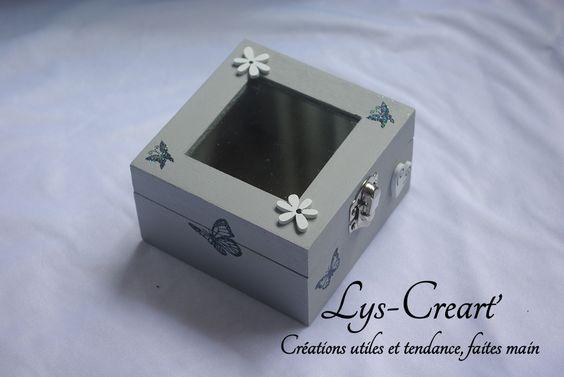 Boite vitrine carrée, pour tous les secrets ! #handmade #boiteunique