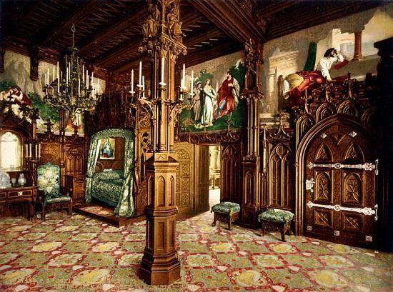 Neuschwanstein Innen Neuschwanstein Deutschland Burgen Schloss Schlafzimmer