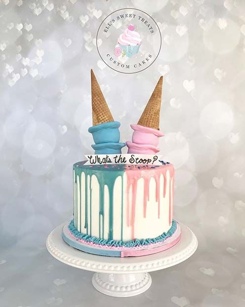 41 Cute And Fun Gender Reveal Cake Ideas Page 2 Of 4 Stayglam Gender Reveal Cake Baby Reveal Cakes Gender Reveal Shower