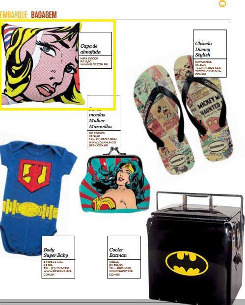 Dois produtos da Elo7 foram publicados na revista da Gol, em matéria sobre produtos inspirados em Histórias em Quadrinhos.