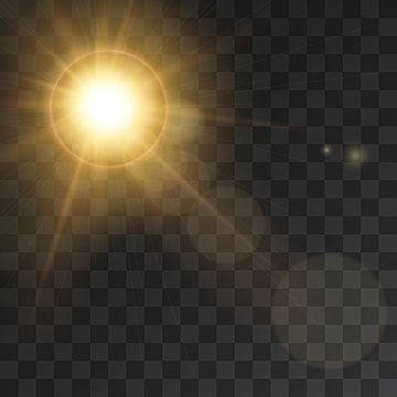 Sunlight Rays Effect With Lens Flare Effect Illustration Background Light Vector Png And Vector With Transparent Background For Free Download In 2020 Lens Flare Effect Lens Flare Light Flare