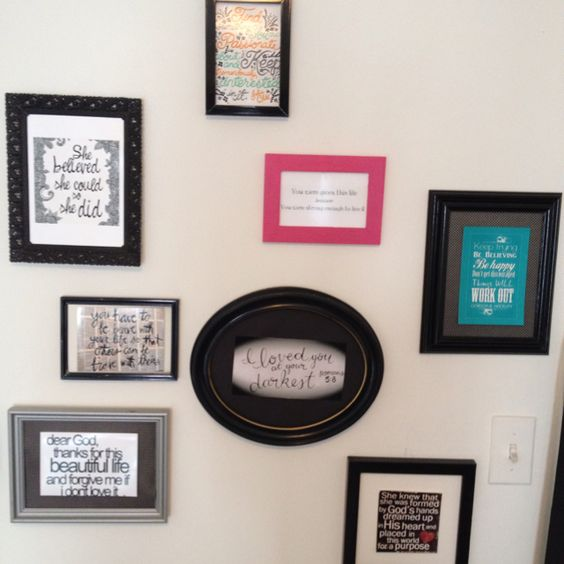 Pinterest quote collage for my bedroom...... LOVE THIS IDEA
