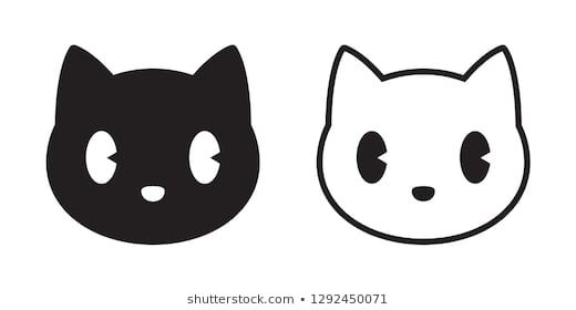Cat Head Silhouette Stock Photos Images Pictures Silhouette Images Silhouette Template Cat Party