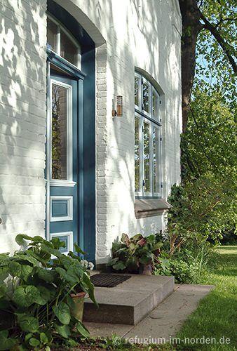 Eingang zur Ferienwohnung Parterre www.refugium-im-norden.de