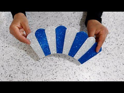 عمل فني بورق الفوم بخطوات بسيطة وسريعة أعمال يدوية من الفوم Lavoro Fai Da Te Di Paper Christmas Ornaments Paper Crafts Diy Kids Christmas Ornaments To Make