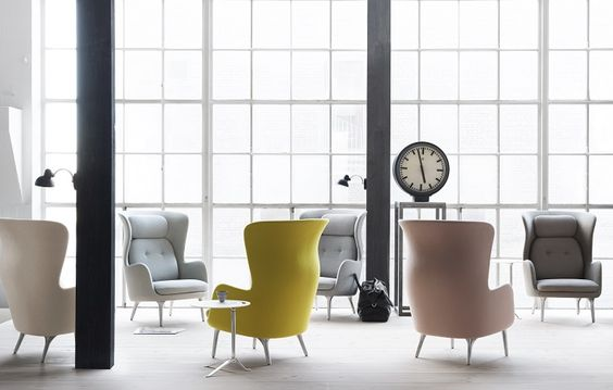 Ro easy chair with brushed aluminum base by Jaime Hayon