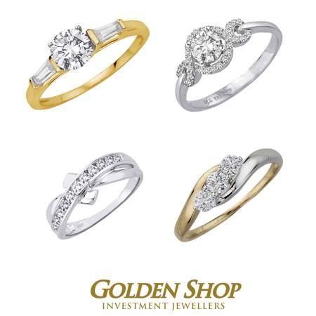 We stock a large selection of 9ct gold and white gold ladies dress rings made with Swarovski Zirconia. Prices start from 50