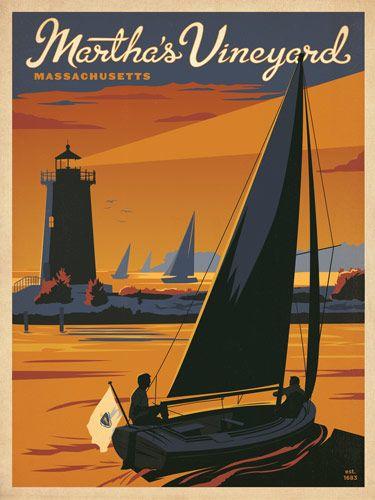 Ces affiches au design vintage qui représentent les plus importants sites touristiques aux USA sont créées par le studio AndersonDesign