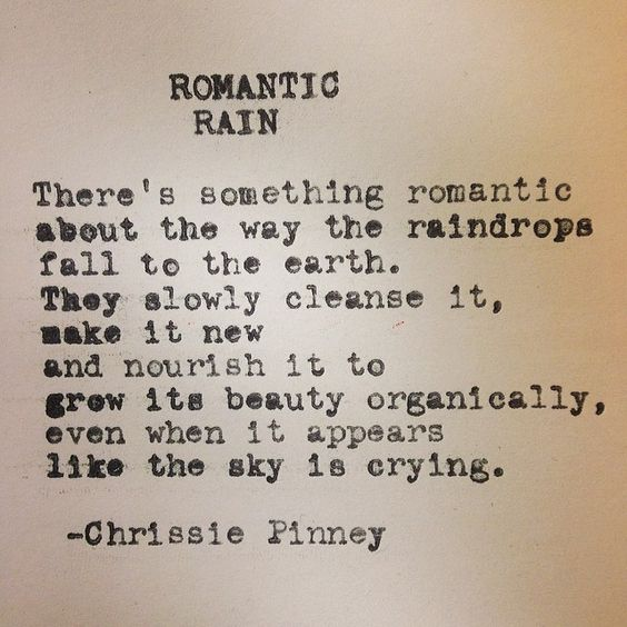 Romantic Rain. Rebuild series no. 37: