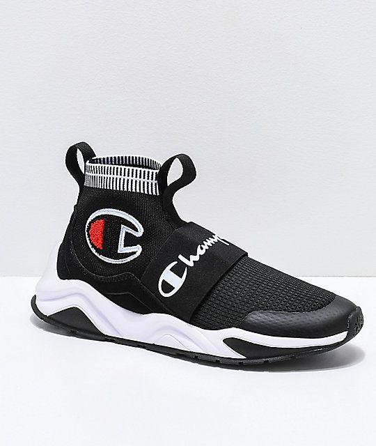 Champion Rally Pro Black \u0026 White Shoes