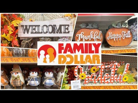 Family Dollar Fall Decor 2020 Shop With Me Fall Decor 2020 Youtube In 2020 Family Dollar Fall Decor Decor