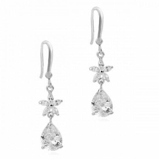 Aaishwarya Love Floral Crystal Danglers #earrings #danglers #crystalearrings