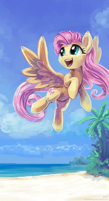 Fluttershy flies:
