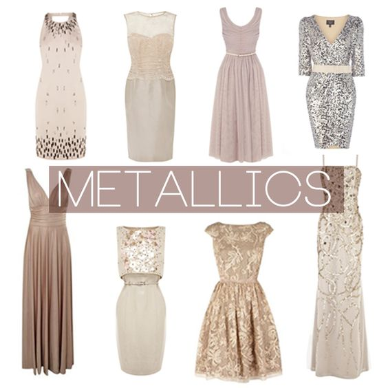 Metallic bridesmaids inspiration board | He liked it so he put a ...