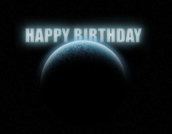 Space Birthday Card by coldsummerdays