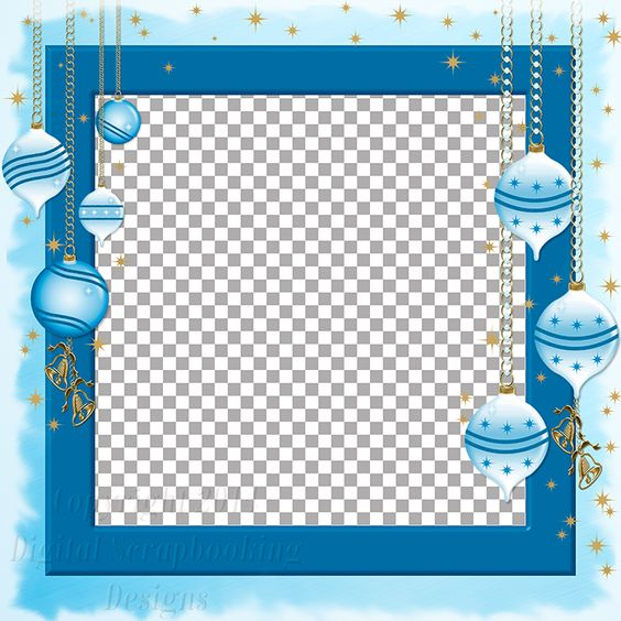 """Layout QP 7B.....Quick Page, Blue, Digital Scrapbooking, Christmas Time Collection, 12"""" x 12"""", 300 dpi, PNG File Format"""