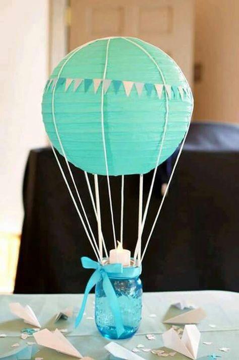 40 Creative Balloon Decoration Ideas for Parties - centros de mesa para baby shower