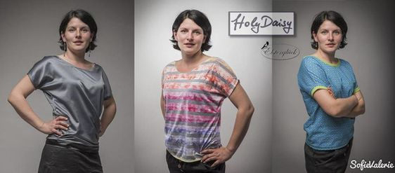 Oberteile & Jacken - eBook HolyDaisy Schnittmuster Damenshirt Kleid Top - ein Designerstück von Elsterglueck bei DaWanda