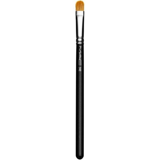 MAC 242 Shader Brush ($25) ❤ liked on Polyvore featuring beauty products, makeup, makeup tools, makeup brushes, apparel & accessories, no color and mac cosmetics