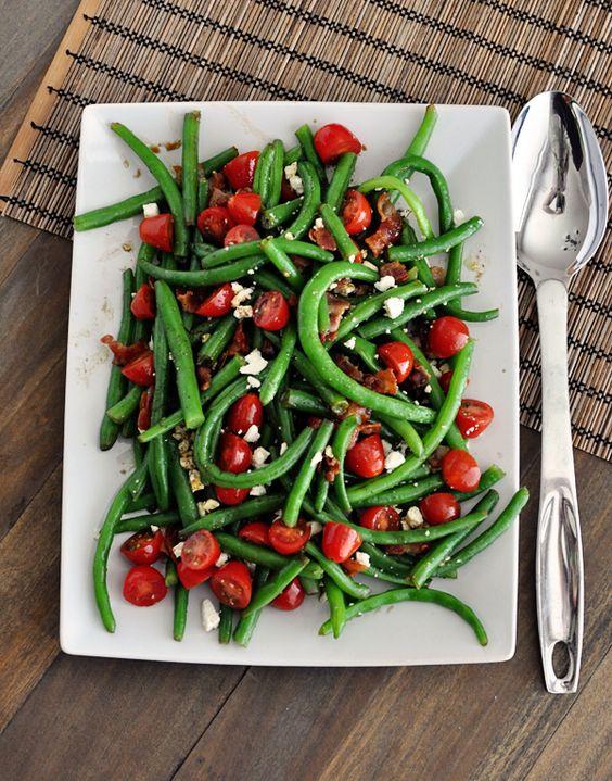 salade haricots verts tomates verts tomates salade haricots recettes ...