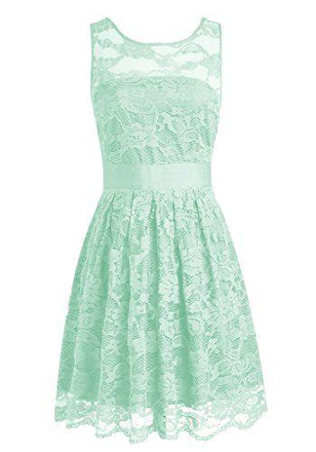SecretCastle Women's Short Bridesmaid Dress Lace Homecming Dresses Size 2 US Mint SecretCastle http://www.amazon.com/dp/B0166M6BL2/ref=cm_sw_r_pi_dp_6RwZwb1PET1QV