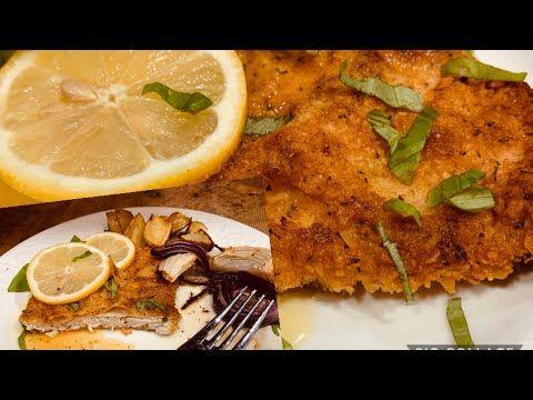 بيكاتا الدجاج اشهر الاكلات الايطالية بصوص الليمون لازم تجربوها Chicken Piccata Lemon Piccata Youtube Food Chicken Meat