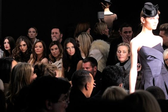 Celebs take center stage at New York Fashion Week: Ashley Greene, Emmy Rossum, Rose McGowan and  Adriana Lima attend the Donna Karan New York show on February 13, 2012. http://ti.me/xiHwV6