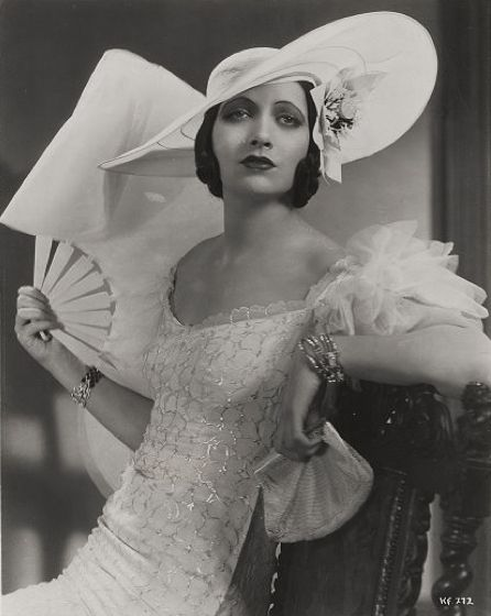 Kay Francis, a top star in the years 1932- 1936. In the mid-thirties, she was one of highest paid people in the U.S.