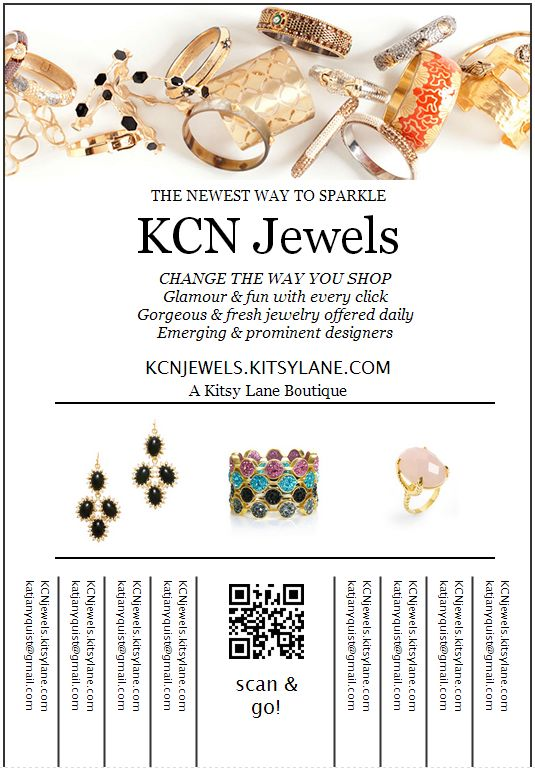 Check out my new online jewelry boutique, KCN Jewels! Score handpicked designer pieces all up to 60% off! :)