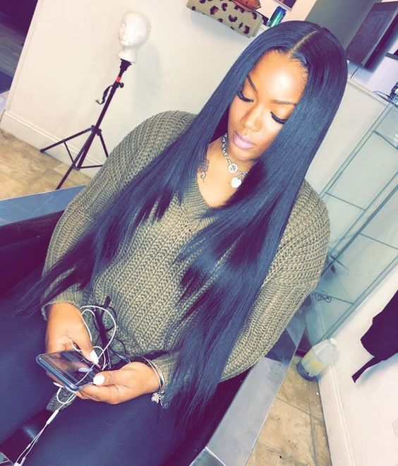 Peruvian Virgin Hair Straight 4 Bundles Hair Weave With 1pc Peruvian Straight Lace Closure Uhair Products Straight Weave Hairstyles Hair Styles Straight Hairstyles