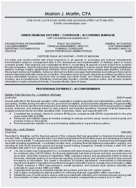 73 New Photos Of Resume Examples Public Accounting