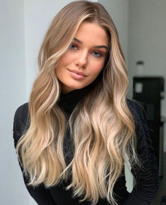 cabelos com luzes loiros sofisticado