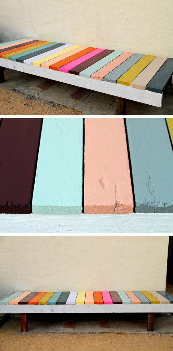 Bancs palette ext rieure and bancs palettes on pinterest for Banquette palette exterieure