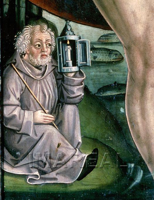 Hl. Christophorus (detail) 1500-1510; Zwickenberg; Österreich; Kärnten; Pfarrkirche http://tarvos.imareal.oeaw.ac.at/server/images/7002124.JPG