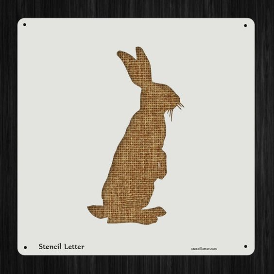 Rabbit 7 Style 2258 DIY Stencil Clear Plastic Acrylic Mylar Reusable