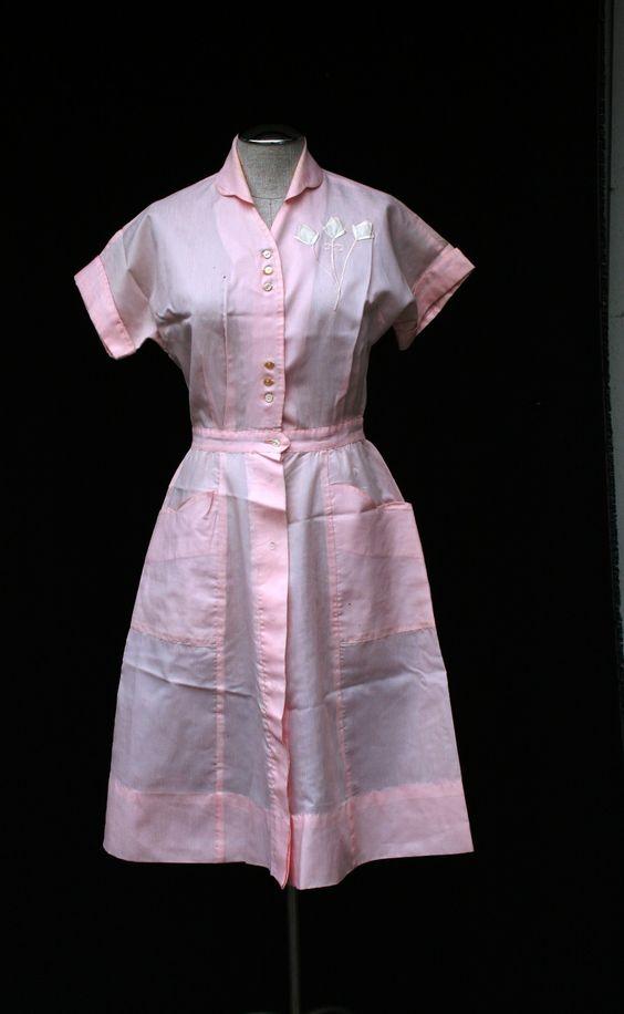 Vintage Waitress Dress Dress Yp