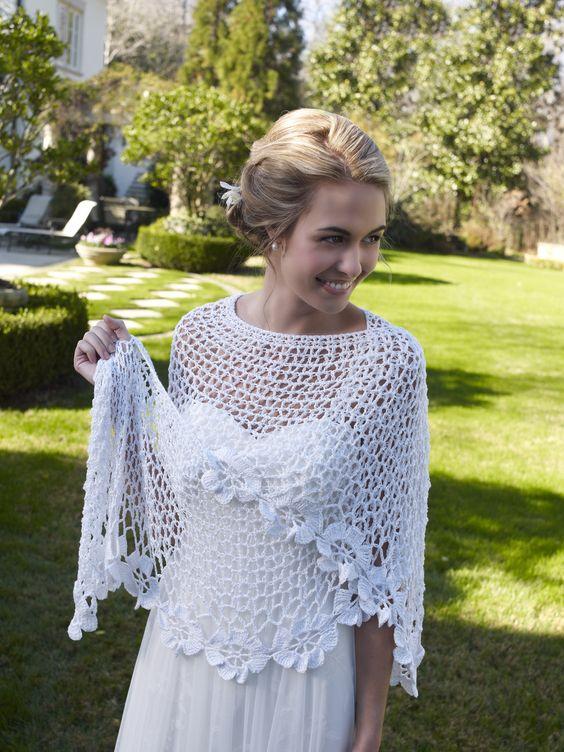 """redheartyarns: """"LC3947 Bridal Shawl Free Crochet Pattern in Aunt lydia's Fashion…"""