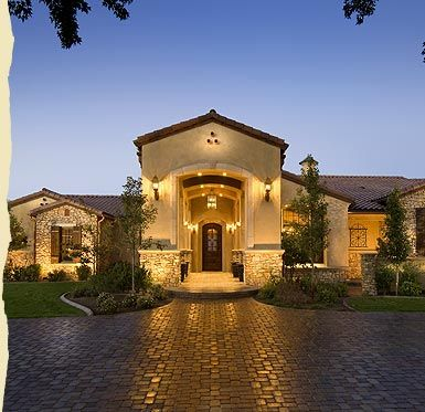 Hill country style home designs unique house plans Rustic tuscan house plans