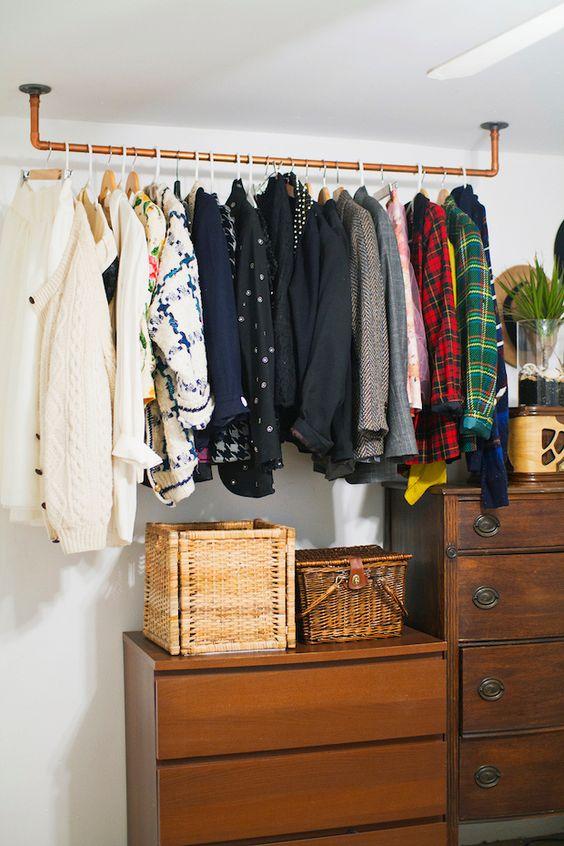 rustikale Einrichtung Baumzweig Kleiderständer Design Ideen