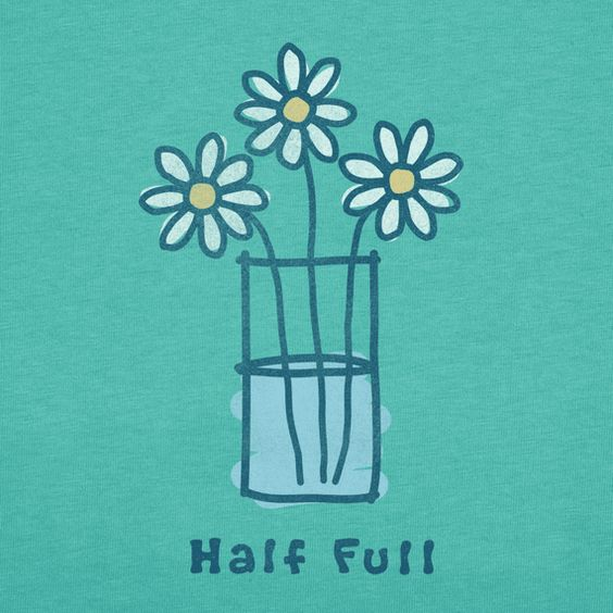 Women's Half Full Short Sleeve Crusher Tee | Positive Tee Shirts | Life is good