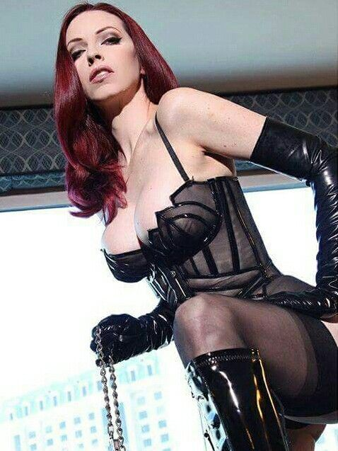 Redhead boots stockings
