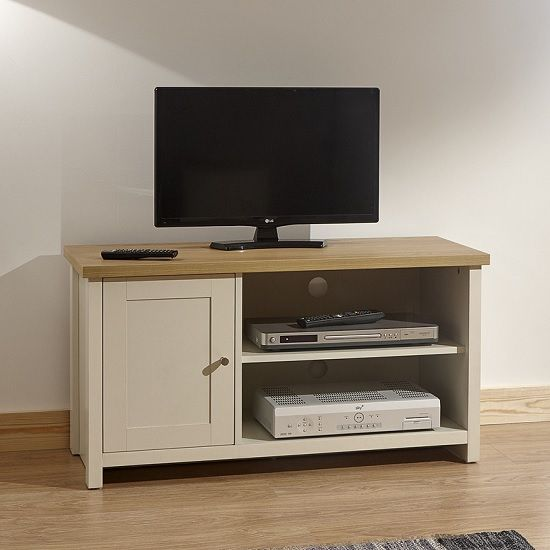 Cambourne 2 Drawer Flat Screen TV Unit Light Sonoma Oak with Open Shelf Stand